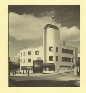 The iconic art deco Birch depot in Rushden (from the rear cover of the book)