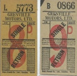 Grenville Bell Punch tickets