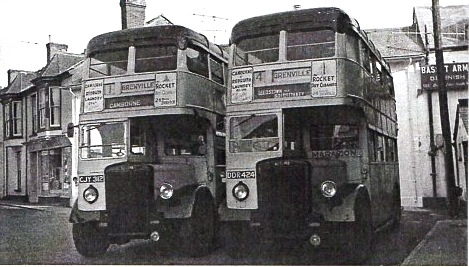 two Grenville double deckers at Camborne