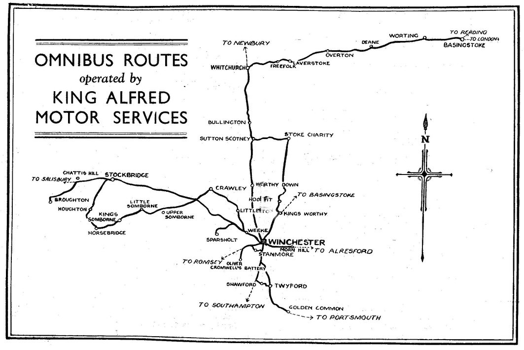1936 King Alfred route map