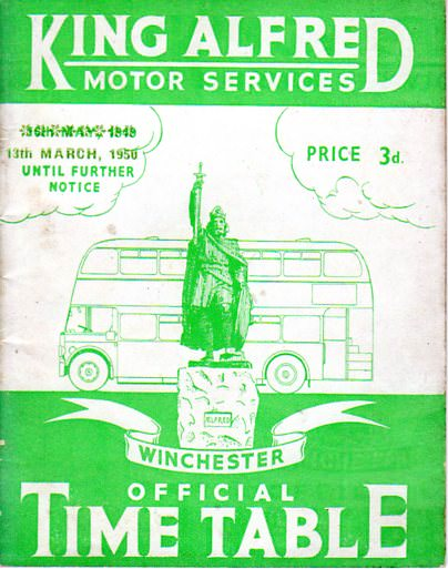 1950 King Alfred timetable cover