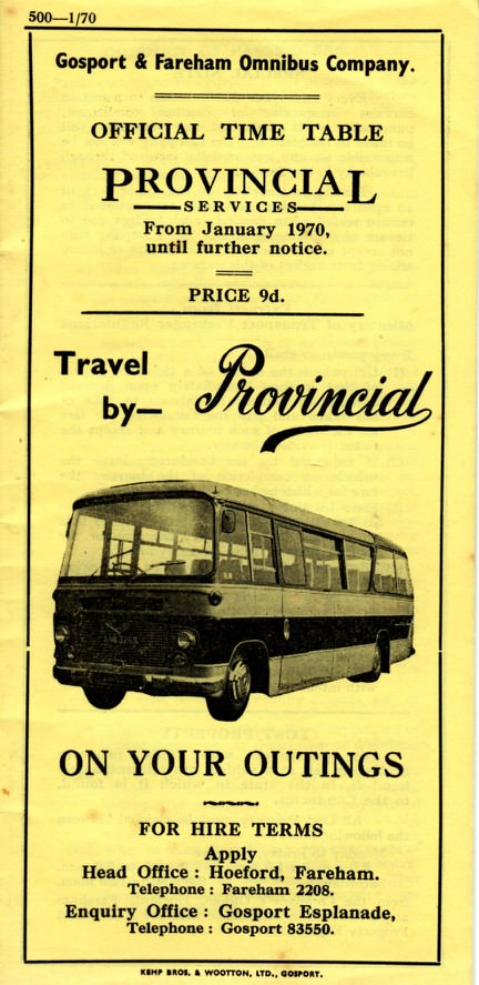 front cover 1970 timetable