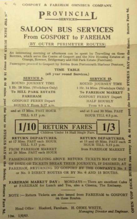 Advertising flyer 1963