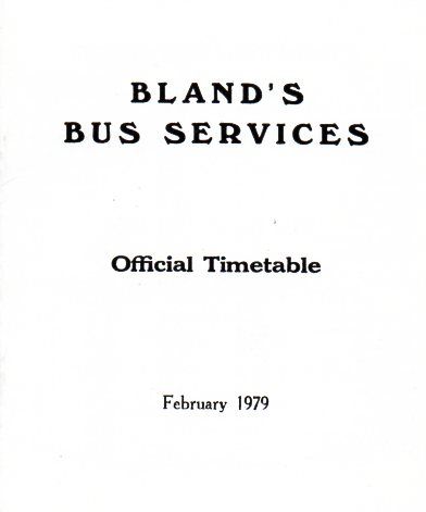 timetable cover 1979