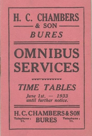 cover of 1933 timetable