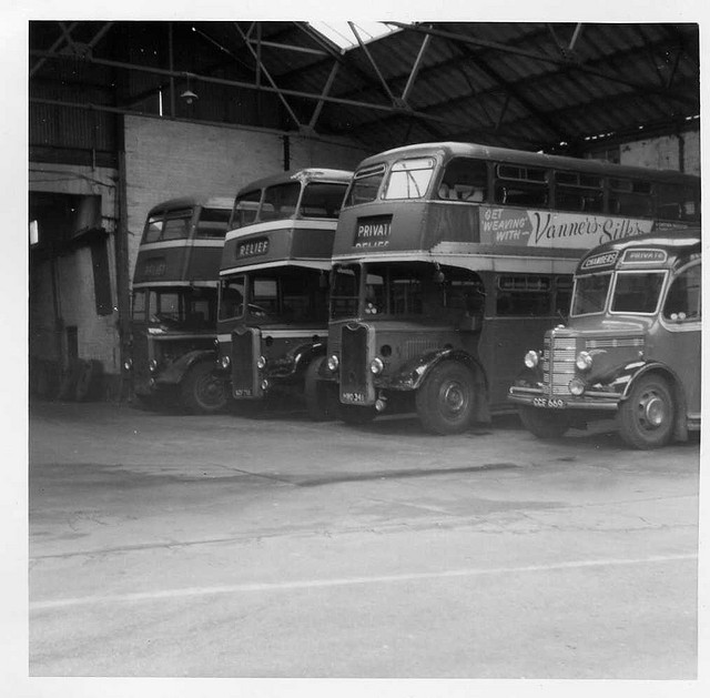 interior bures garage in 1970s