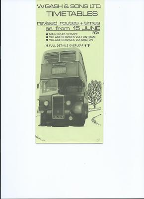 cover of 1980 Gash timetable