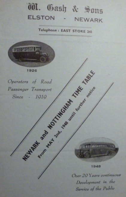 1948 Gash timetable cover