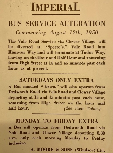 1950 route variation notice