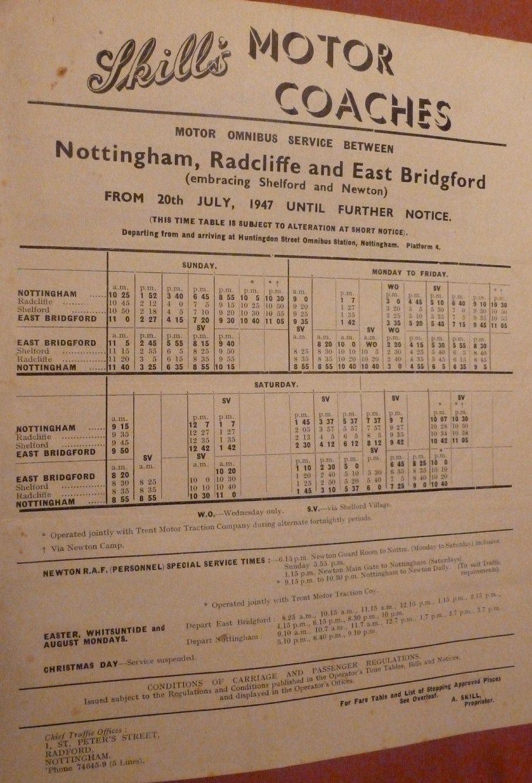 Skills timetable 1947