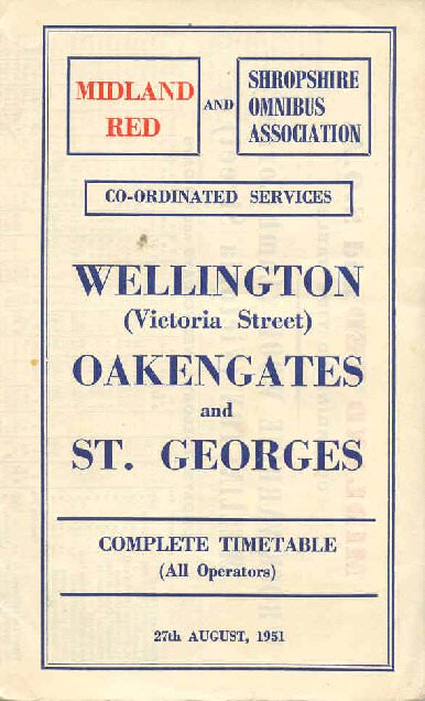 1951 timetable